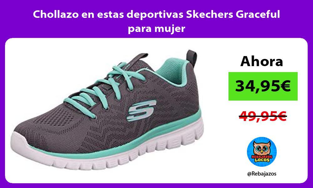 Chollazo en estas deportivas Skechers Graceful para mujer