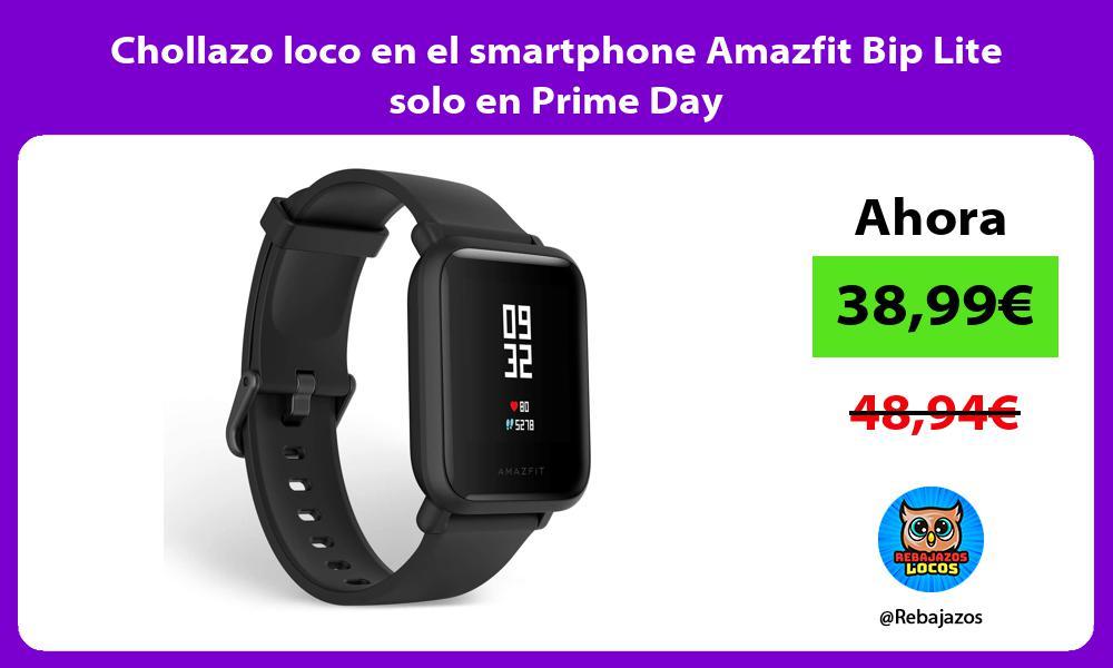 Chollazo loco en el smartphone Amazfit Bip Lite solo en Prime Day