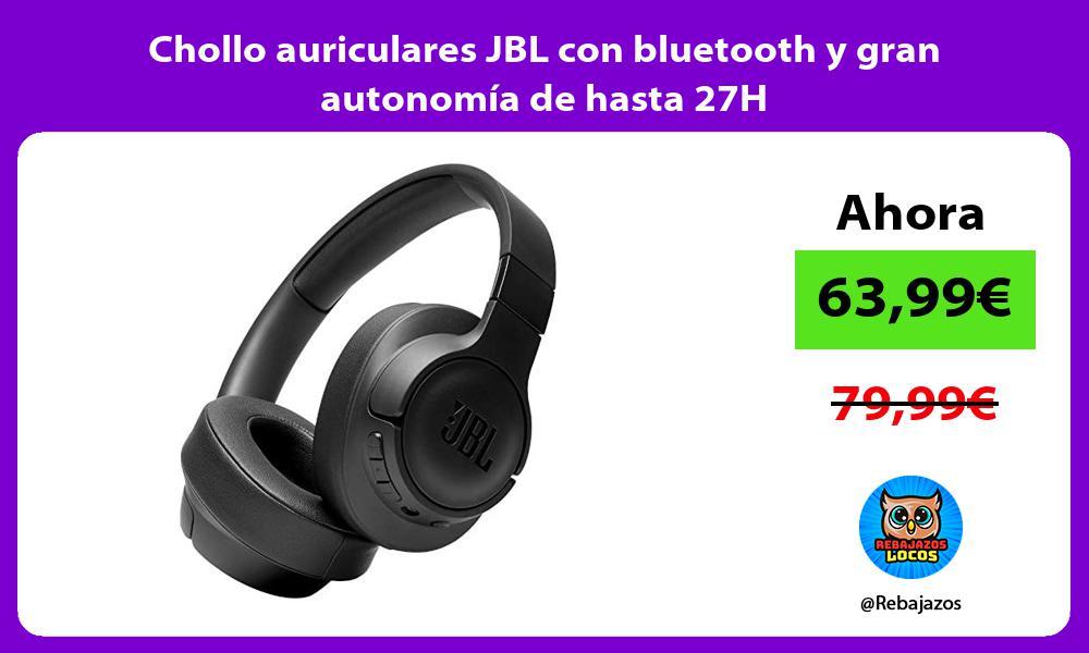 Chollo auriculares JBL con bluetooth y gran autonomia de hasta 27H