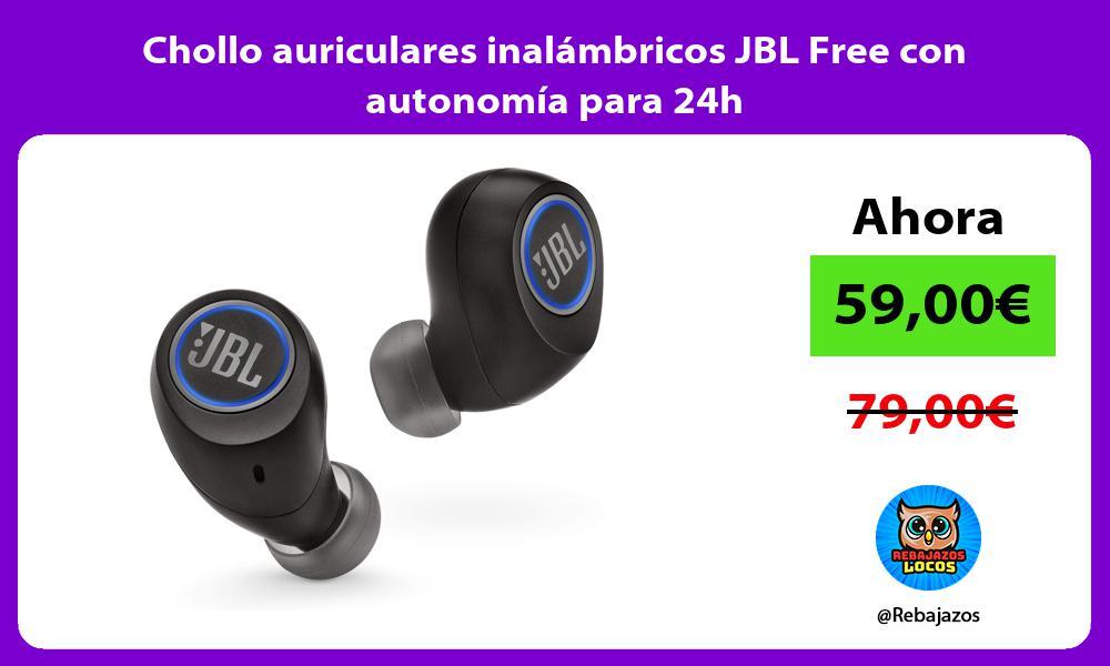 Chollo auriculares inalambricos JBL Free con autonomia para 24h