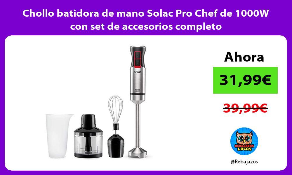 Chollo batidora de mano Solac Pro Chef de 1000W con set de accesorios completo