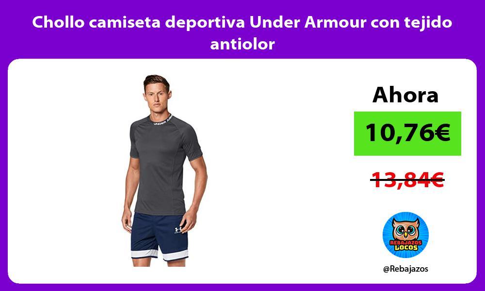 Chollo camiseta deportiva Under Armour con tejido antiolor