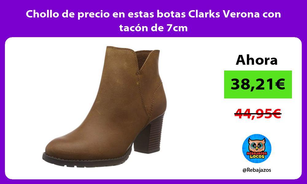 Chollo de precio en estas botas Clarks Verona con tacon de 7cm