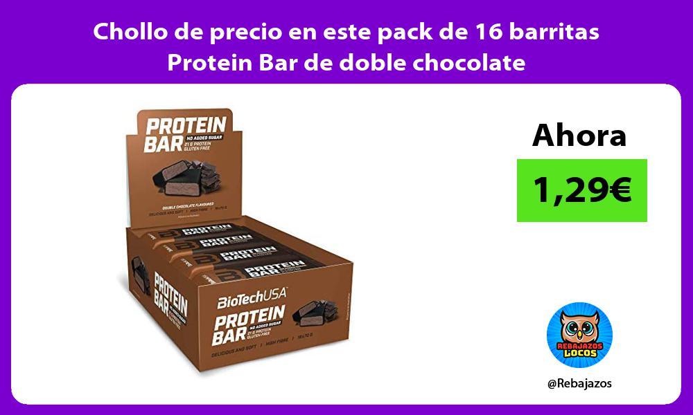 Chollo de precio en este pack de 16 barritas Protein Bar de doble chocolate
