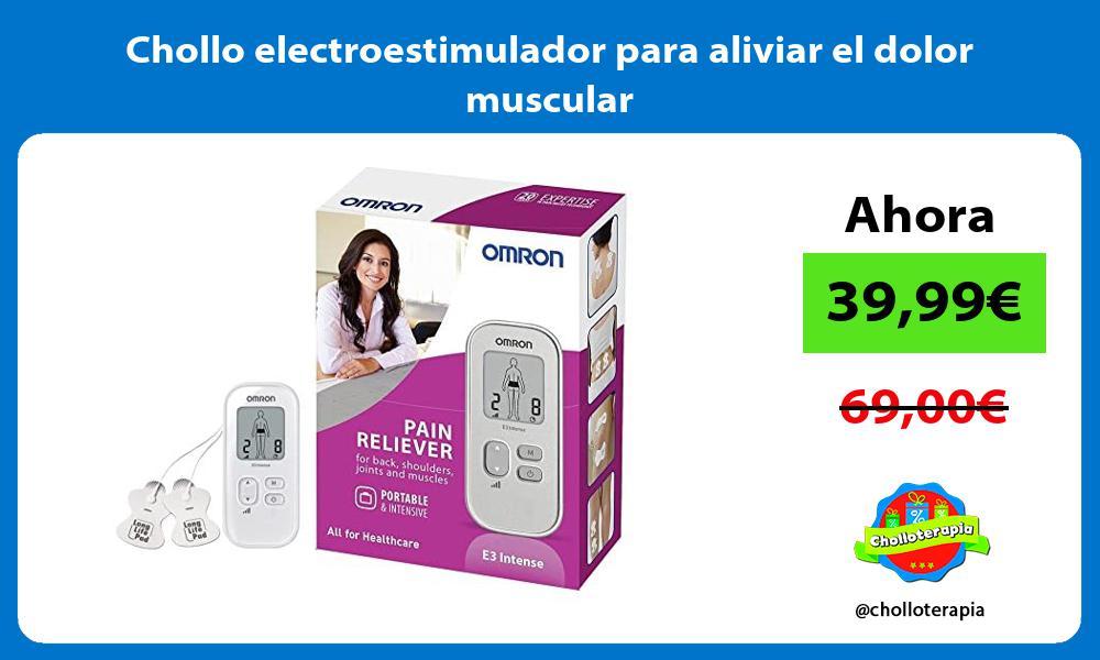 Chollo electroestimulador para aliviar el dolor muscular