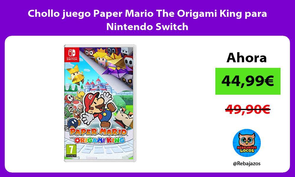 Chollo juego Paper Mario The Origami King para Nintendo Switch
