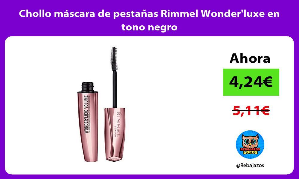 Chollo mascara de pestanas Rimmel Wonderluxe en tono negro