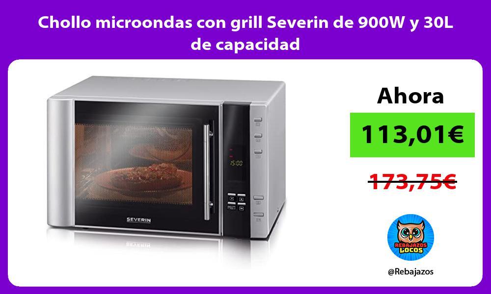 Chollo microondas con grill Severin de 900W y 30L de capacidad