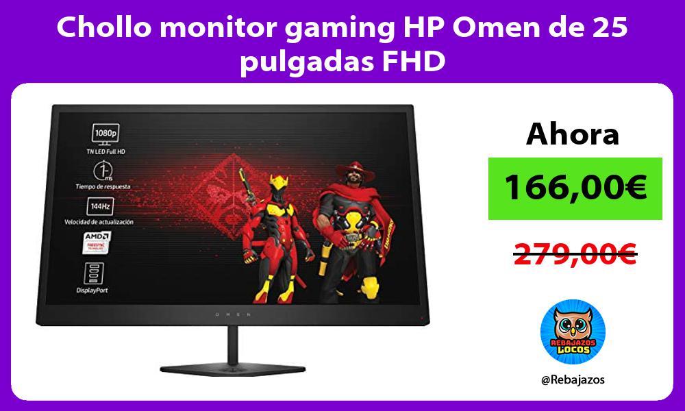 Chollo monitor gaming HP Omen de 25 pulgadas FHD