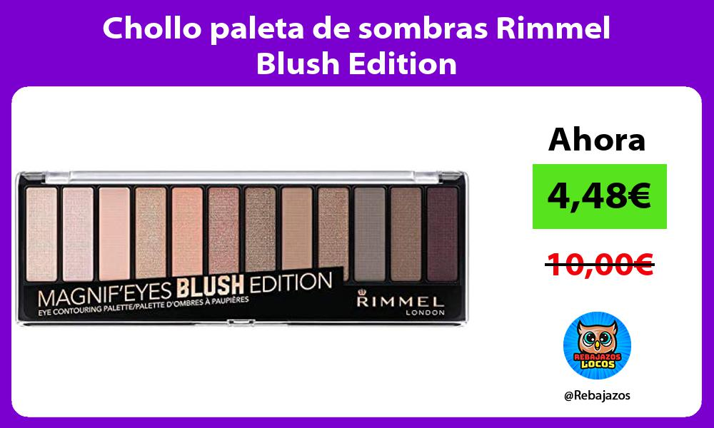 Chollo paleta de sombras Rimmel Blush Edition