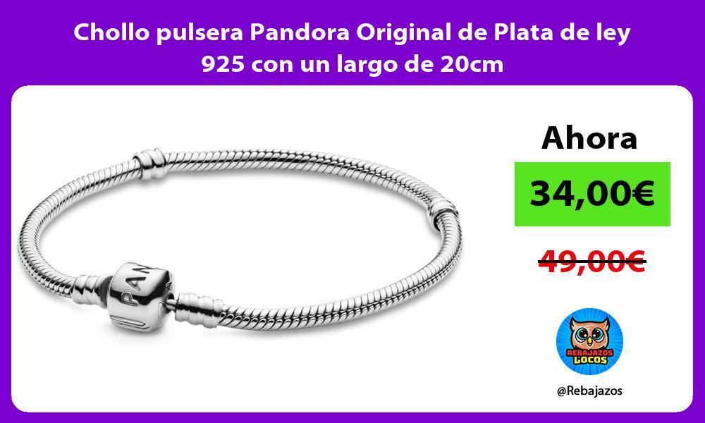 Chollo pulsera Pandora Original de Plata de ley 925 con un largo de 20cm