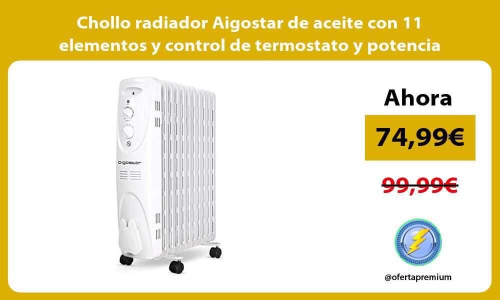 Chollo radiador Aigostar de aceite con 11 elementos y control de termostato y potencia