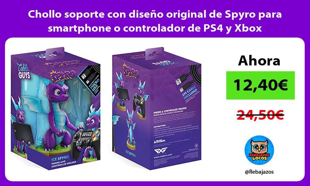 Chollo soporte con diseno original de Spyro para smartphone o controlador de PS4 y Xbox