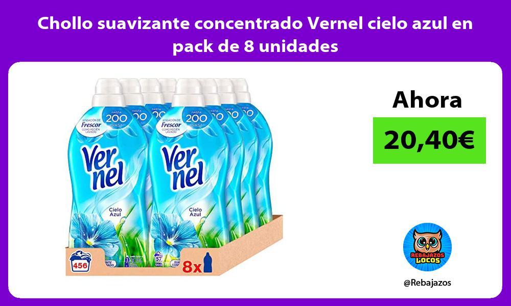 Chollo suavizante concentrado Vernel cielo azul en pack de 8 unidades