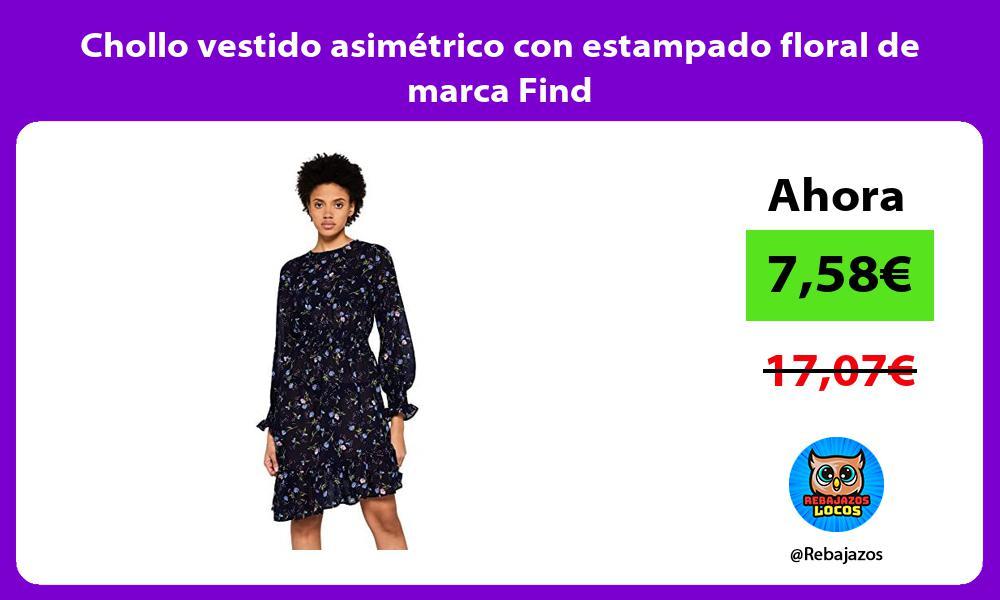 Chollo vestido asimetrico con estampado floral de marca Find