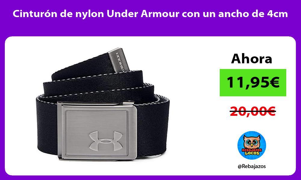 Cinturon de nylon Under Armour con un ancho de 4cm