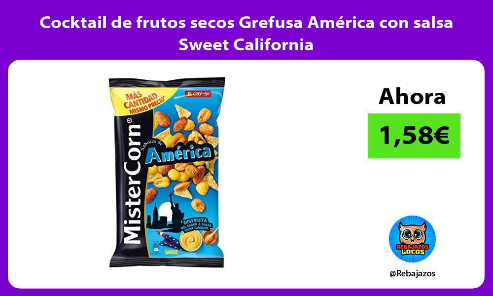 Cocktail de frutos secos Grefusa America con salsa Sweet California