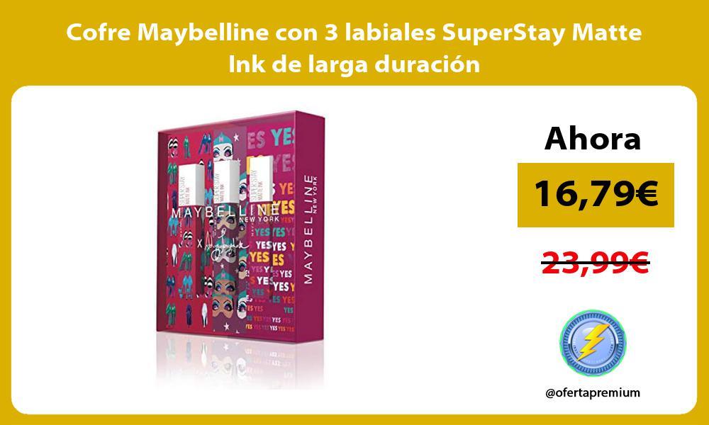 Cofre Maybelline con 3 labiales SuperStay Matte Ink de larga duracion