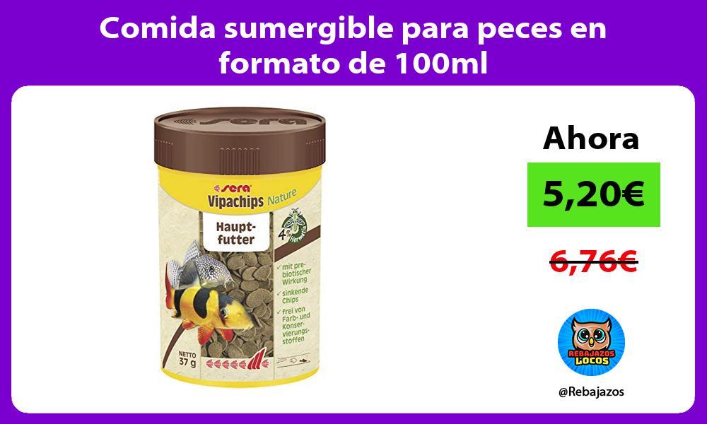 Comida sumergible para peces en formato de 100ml