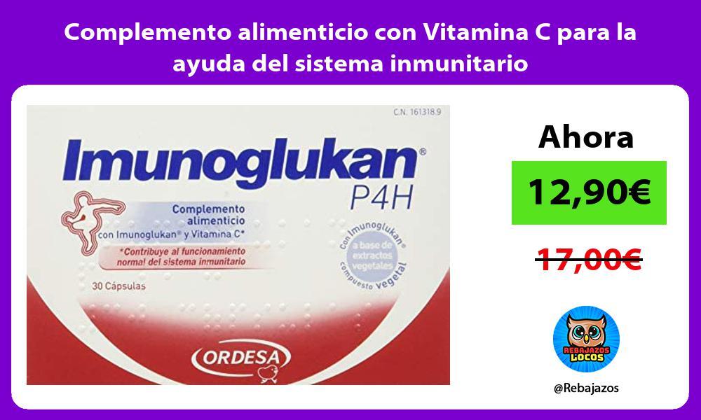 Complemento alimenticio con Vitamina C para la ayuda del sistema inmunitario