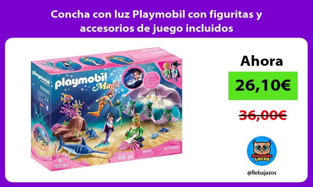 Concha con luz Playmobil con figuritas y accesorios de juego incluidos