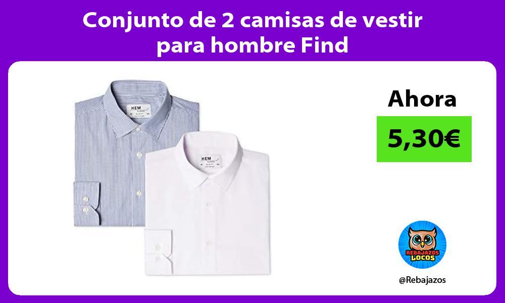 Conjunto de 2 camisas de vestir para hombre Find