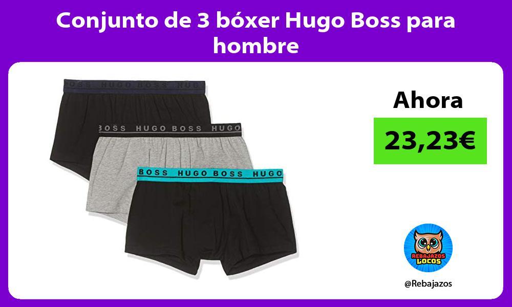 Conjunto de 3 boxer Hugo Boss para hombre