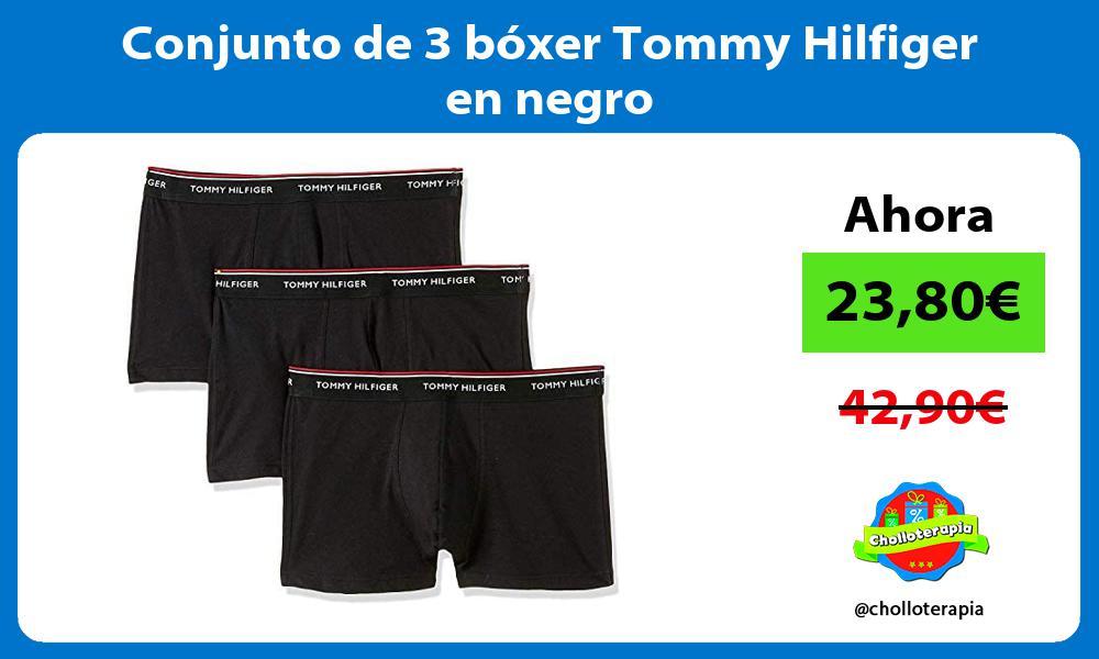 Conjunto de 3 boxer Tommy Hilfiger en negro