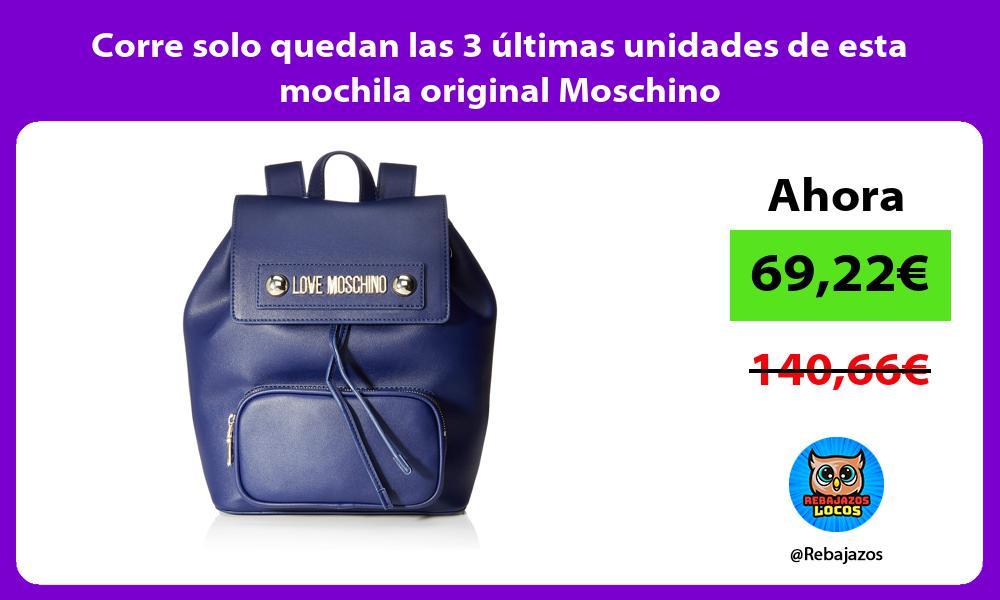 Corre solo quedan las 3 ultimas unidades de esta mochila original Moschino