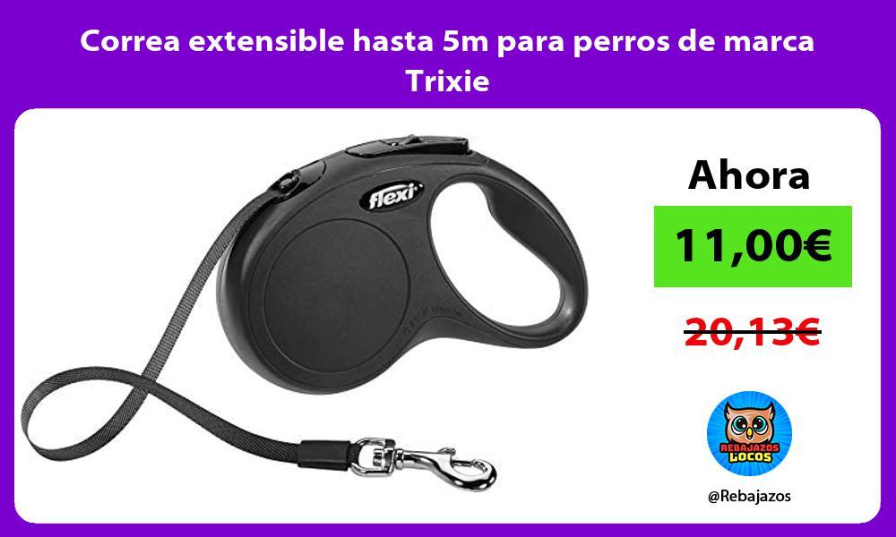 Correa extensible hasta 5m para perros de marca Trixie