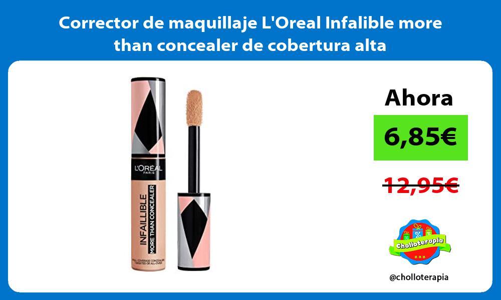 Corrector de maquillaje LOreal Infalible more than concealer de cobertura alta