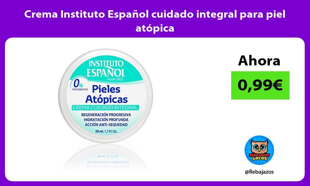 Crema Instituto Espanol cuidado integral para piel atopica