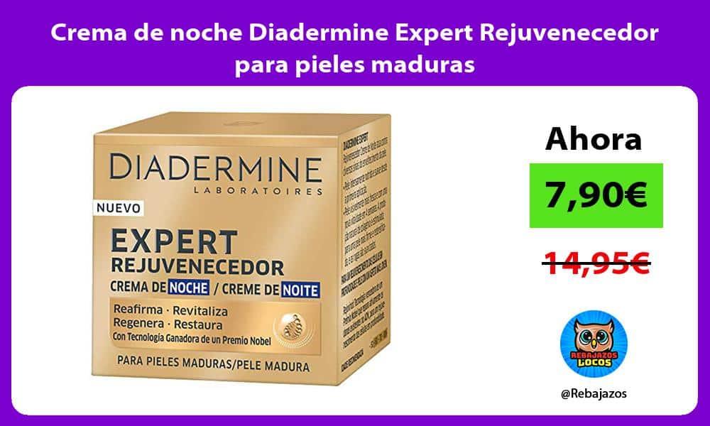 Crema de noche Diadermine Expert Rejuvenecedor para pieles maduras