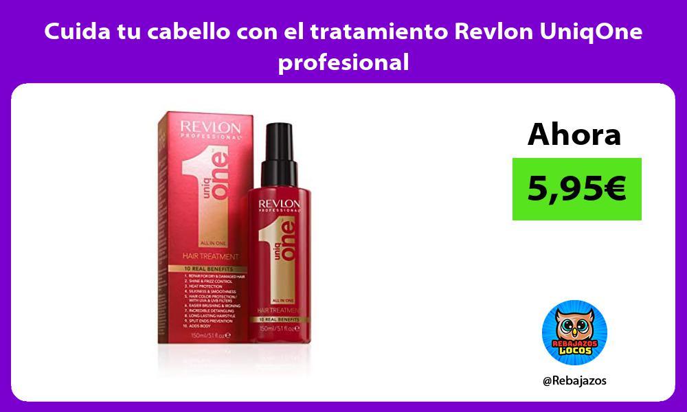 Cuida tu cabello con el tratamiento Revlon UniqOne profesional
