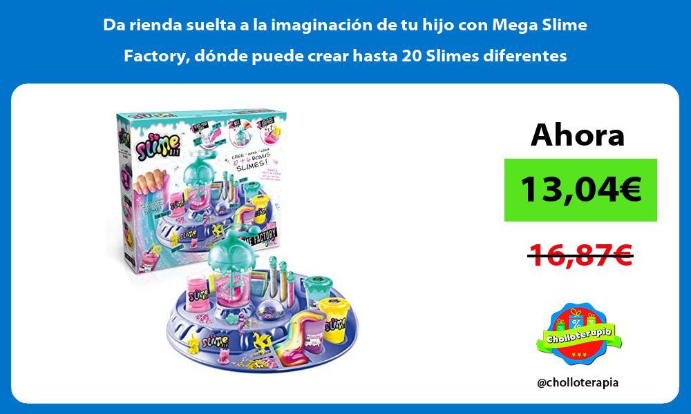 Da rienda suelta a la imaginacion de tu hijo con Mega Slime Factory donde puede crear hasta 20 Slimes diferentes