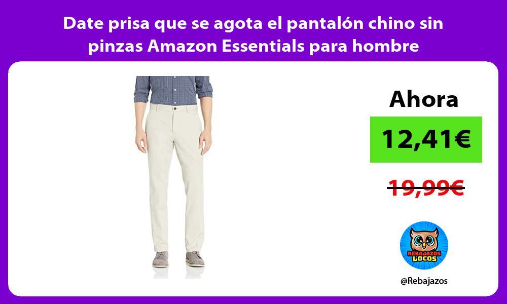 Date prisa que se agota el pantalon chino sin pinzas Amazon Essentials para hombre
