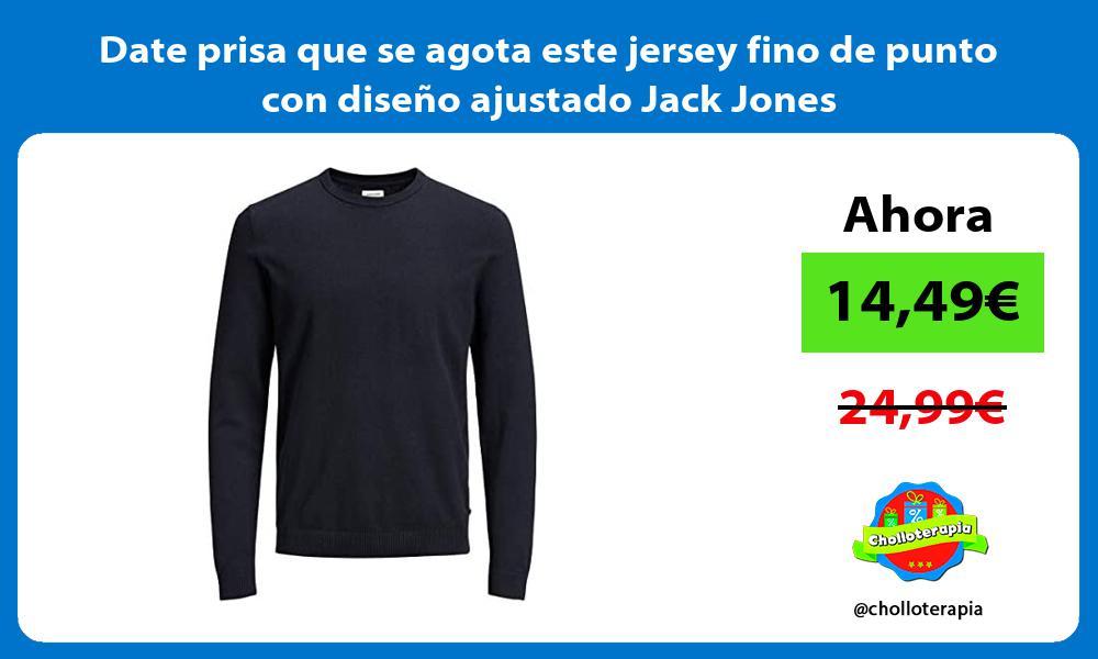 Date prisa que se agota este jersey fino de punto con diseno ajustado Jack Jones
