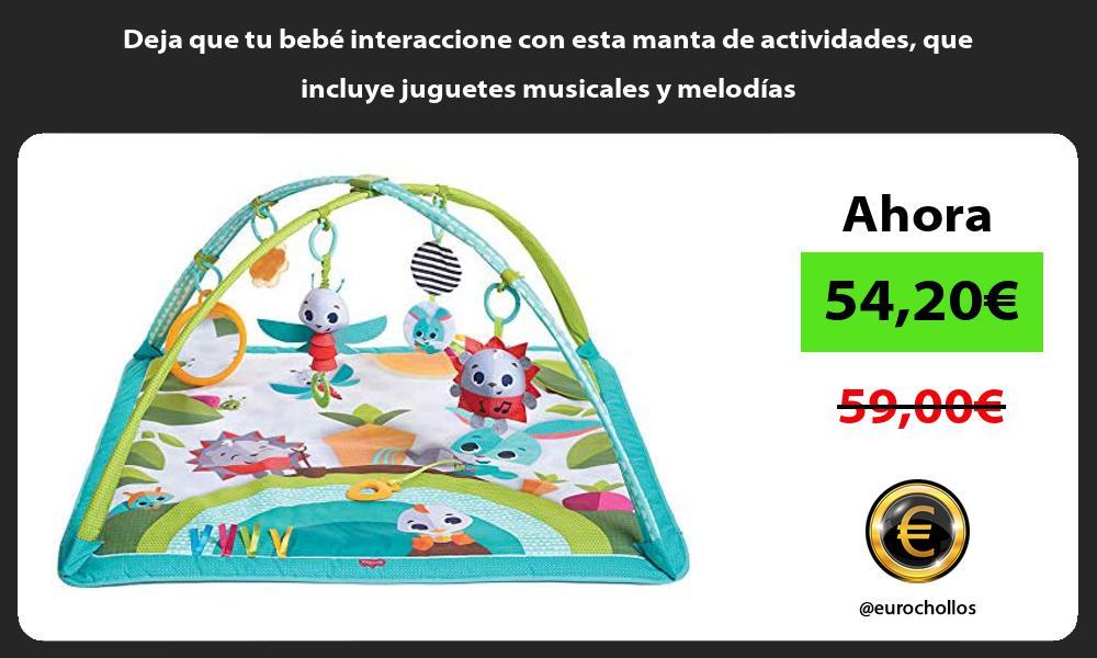 Deja que tu bebe interaccione con esta manta de actividades que incluye juguetes musicales y melodias