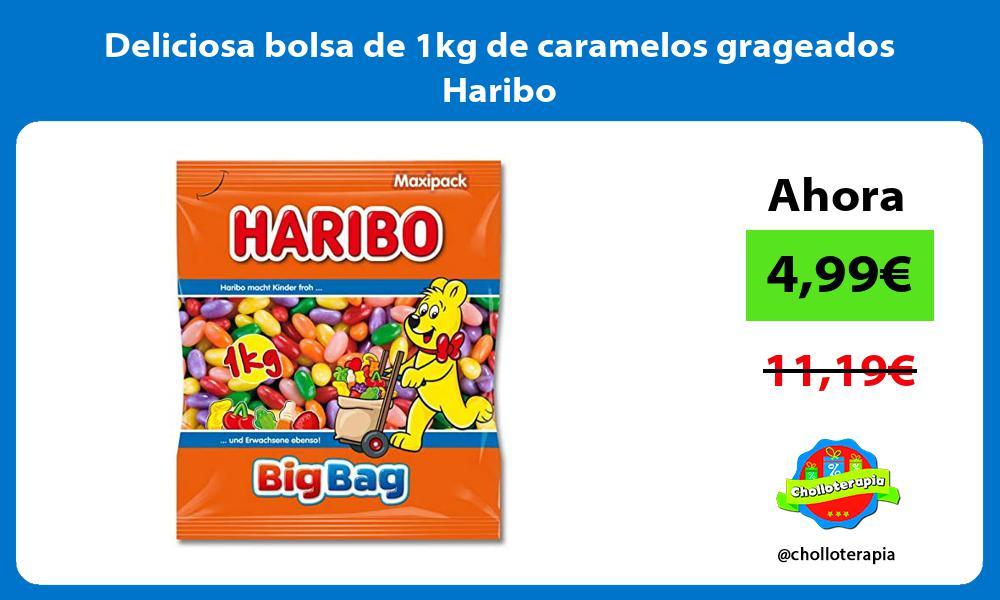 Deliciosa bolsa de 1kg de caramelos grageados Haribo