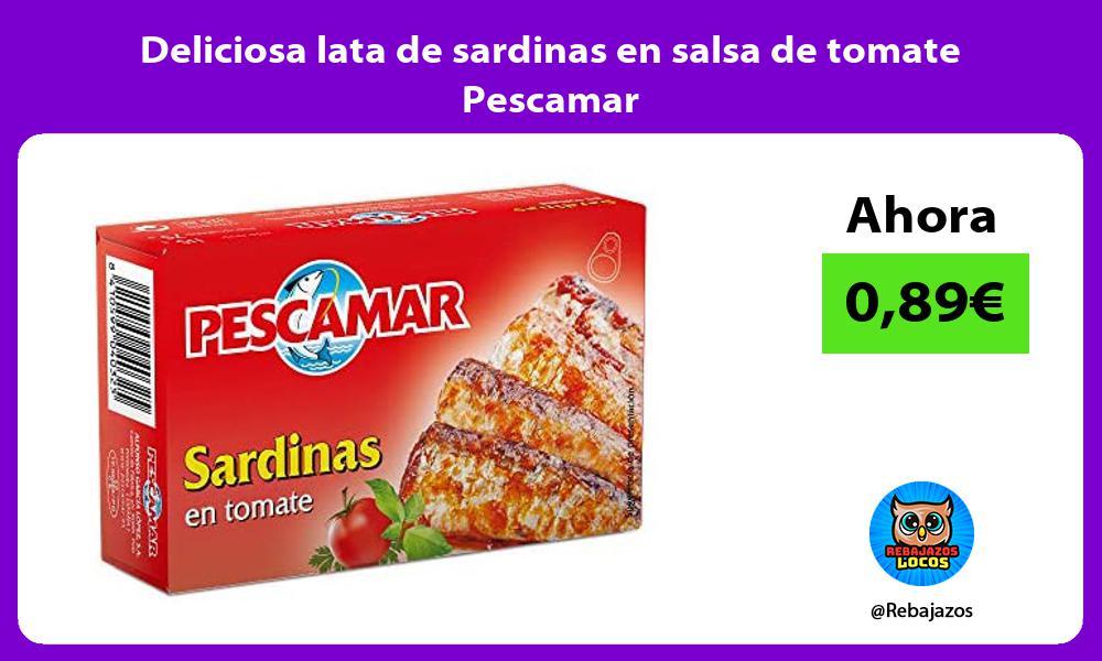 Deliciosa lata de sardinas en salsa de tomate Pescamar