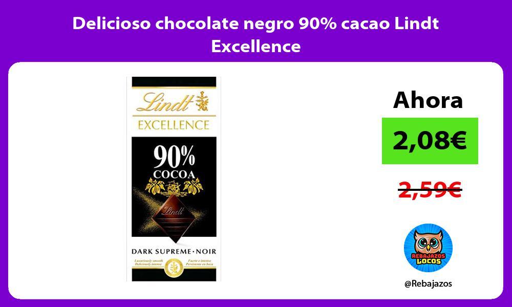 Delicioso chocolate negro 90 cacao Lindt Excellence
