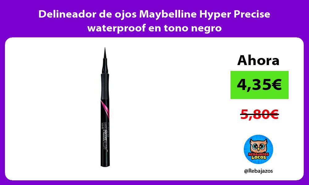Delineador de ojos Maybelline Hyper Precise waterproof en tono negro