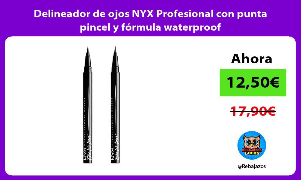 Delineador de ojos NYX Profesional con punta pincel y formula waterproof