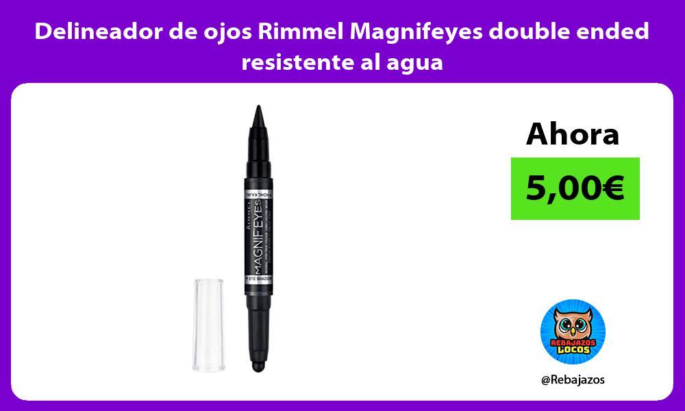 Delineador de ojos Rimmel Magnifeyes double ended resistente al agua