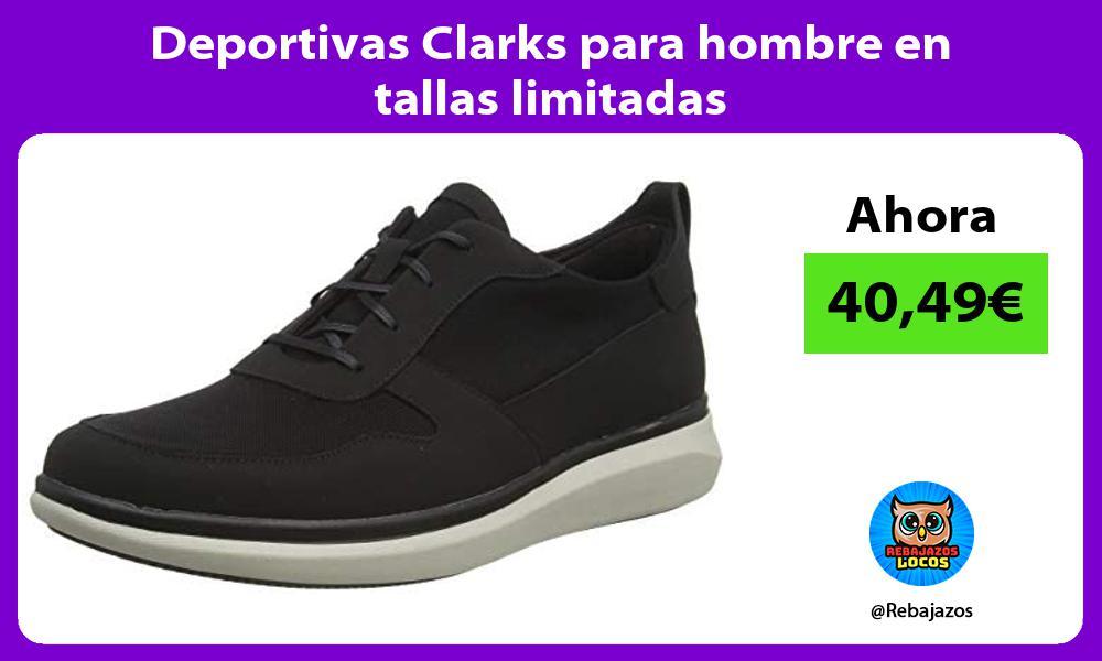 Deportivas Clarks para hombre en tallas limitadas