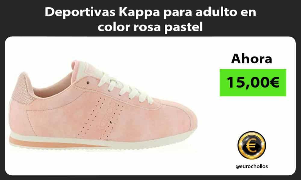 Deportivas Kappa para adulto en color rosa pastel