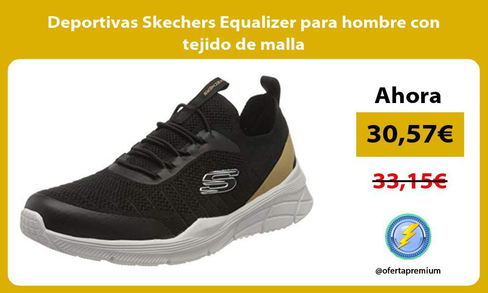 Deportivas Skechers Equalizer para hombre con tejido de malla