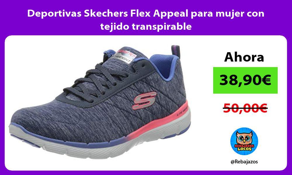 Deportivas Skechers Flex Appeal para mujer con tejido transpirable