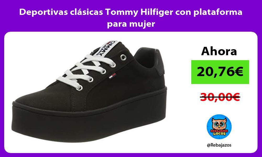 Deportivas clasicas Tommy Hilfiger con plataforma para mujer