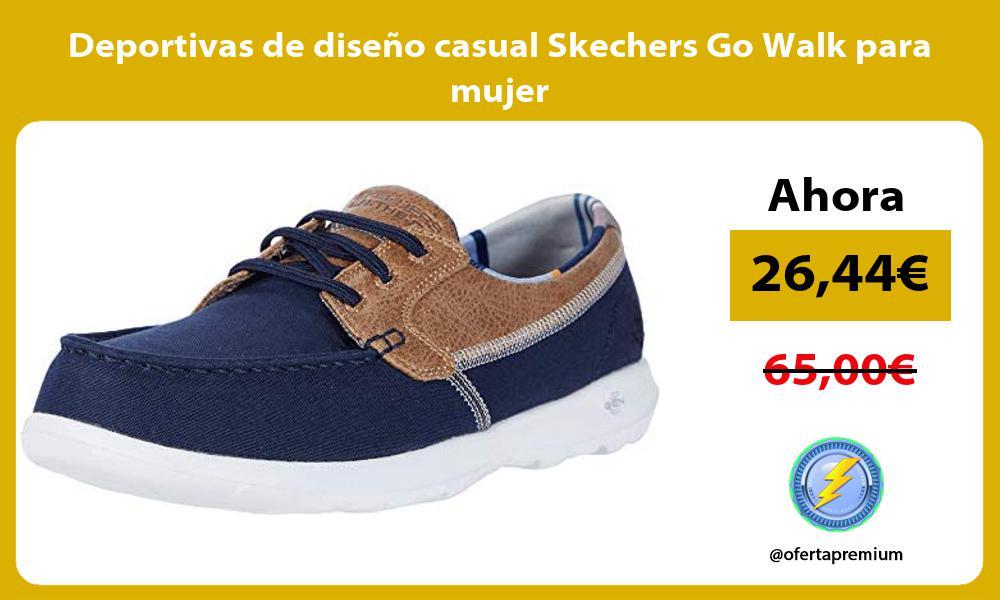 Deportivas de diseno casual Skechers Go Walk para mujer